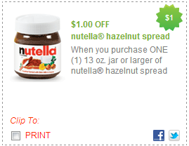 photograph relating to Nutella Printable Coupon named Coupon Notify: Nutella - Drugstore Divas